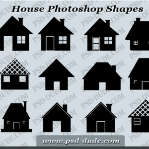 House Photoshop Shapes