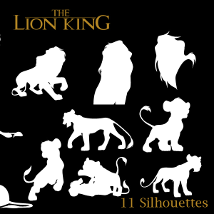 Jungle Lion Vector Shapes and Silhouettes for Photoshop