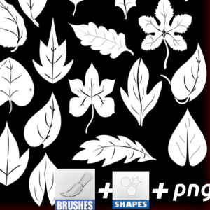 Leaf Foliage Photoshop Vector Shapes