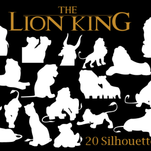 Lion King Vector Shapes Photoshop