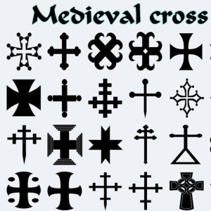Medieval Cross Heraldry Shapes