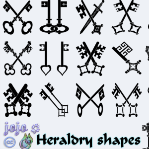 Medieval Keys Heraldry Shapes (Symbols) | Custom Shapes ...