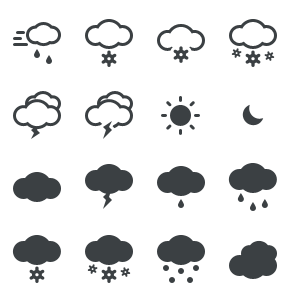 Meteo Weather Icon Shapes
