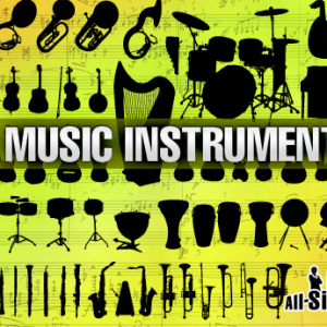 Music Instruments Photoshop Shapes CSH