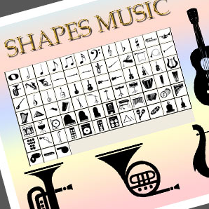 Music Shapes for Photoshop