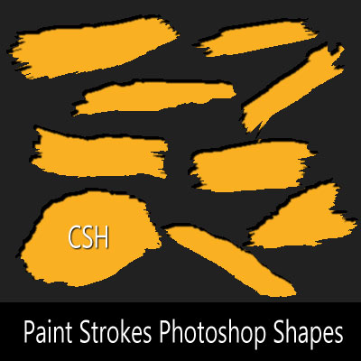 Paint Stroke Photoshop Shapes CSH