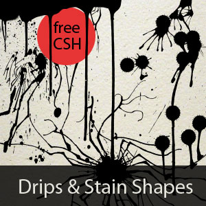Drip and Stain Photoshop Shapes