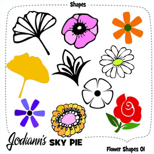 Flower Shapes for Photoshop