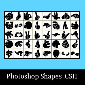 40 Photoshop Hand Shapes