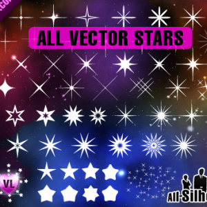 Photoshop Stars Vector Shapes CSH