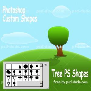 Photoshop Tree Shapes