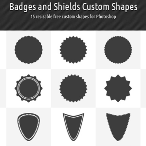 Photoshop Vector Badge and Shield Shapes CSH
