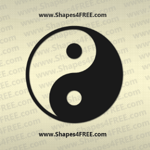 Yin Yang Photoshop Shape