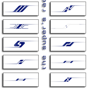 Race Car Stripes Vector Shapes