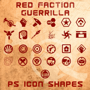 Red Faction Guerilla Icon Shapes