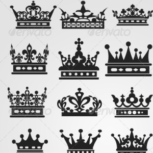 Royal Crown Vector Shapes