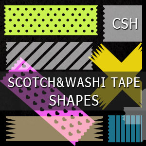 Photoshop Scotch Tape Shapes