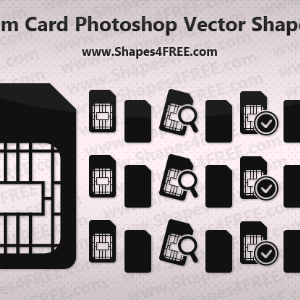 Sim Card Icon Photoshop Vector Shapes