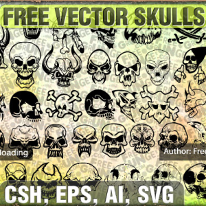 Skull Shapes for Photoshop