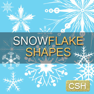 Snowflake Photoshop CSH Shapes for Christmas