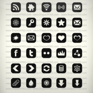 90 Shapes Icons Vector