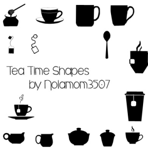 Tea and Coffee Vector Shapes for Photoshop