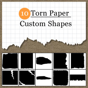 Torn Paper Vector for Photoshop