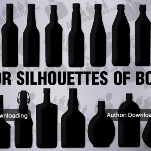 Vector bottle silhouettes