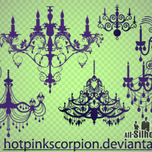 Vector Chandelier Objects Custom Shapes For Photoshop