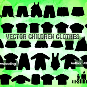 Vector Children Clothes