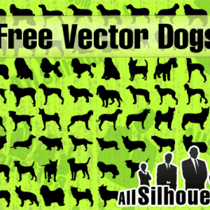 Vector Dog Photoshop Shapes and Silhouettes