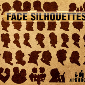 Vector Face Silhouettes