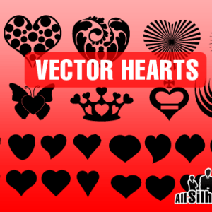 Vector Heart Shapes for Photoshop CSH