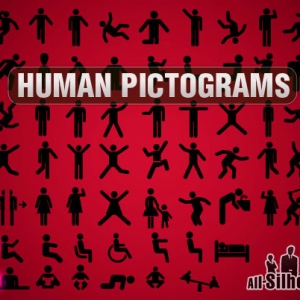 Vector Human Postures Pictogram