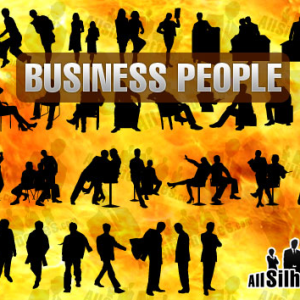 Business People Silhouette Shapes for Photoshop