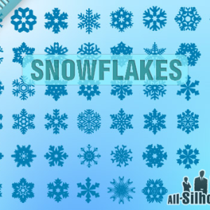Vector Snowflakes Photoshop Shapes