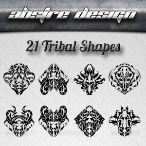 Vector Tribal Tattoo Shapes for Photoshop